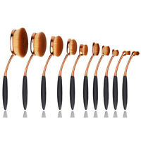 10 Pieces Oval Brush Set Black & Gold with Gift Box $ 29.99