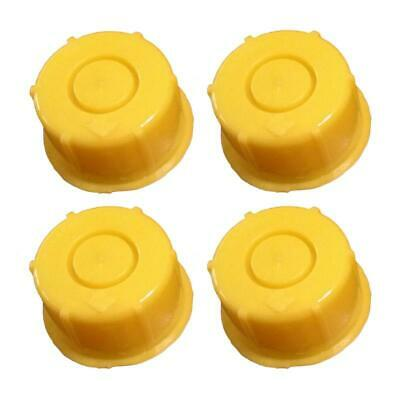 Kp37 - Pack Of 4 Blitz Yellow Spout Cap Fits Self-venting Gas Can Spouts