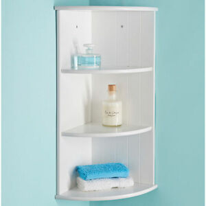 white shelf for bathroom modern bathroom white 3 tier corner floating wall shelf 21588