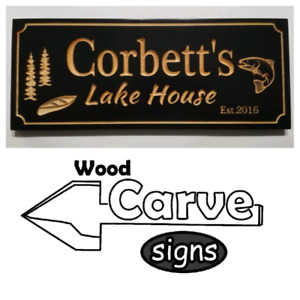 Personalized wood carved signs for home, cottage,gifts and more