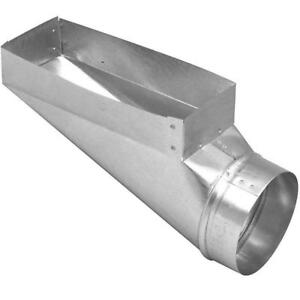 "Galvanized End Boot 4"" x 10"" x 4"""