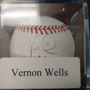 Signed Vernon Well Toronto Blue Jays Baseball Kitchener / Waterloo Kitchener Area image 1
