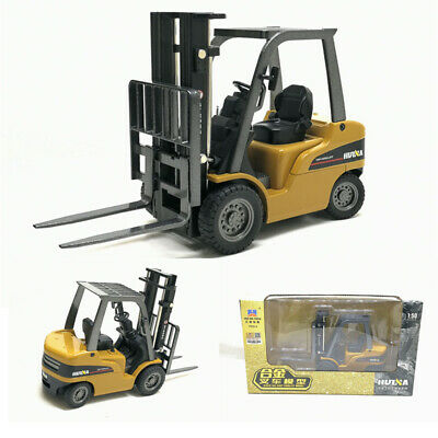 1:50 Alloy Engineering Vehicle Model Metal Diecast Forklift Truck Car Toy Gift