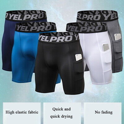 US STO Men Compression Shorts Briefs Tights Gym Quick Dry Under Pants Sport Wear