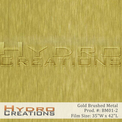 Hydrographic Film Hydro Dipping Water Transfer Gold Brushed Metal 38.5 X 38.5
