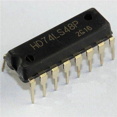 5pcs Hd74ls48p 74ls48 Dip16 Hitachi Bcd-to-seven-segment Decoder New