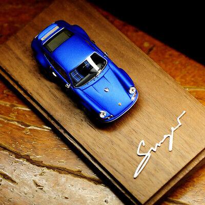 Timothy&Pierre 1:64 Scale Porsche Singer 911 964 Lobelia Blue Car Model in New
