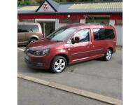 Volkswagen Caddy Maxi 1.6TDI Life Camper Van Mpv Estate Lwb 5 Seat Crew Cab Van