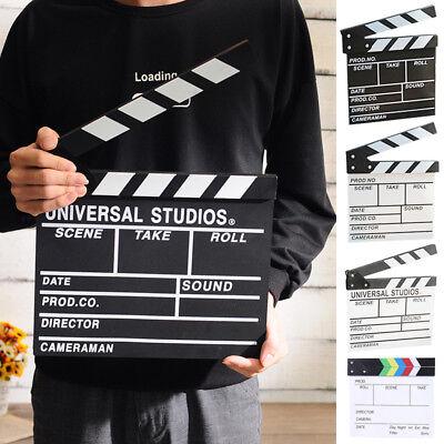 1PC Wooden Clapper Board Director TV Movie Film Clapperboard Video Scene Tool