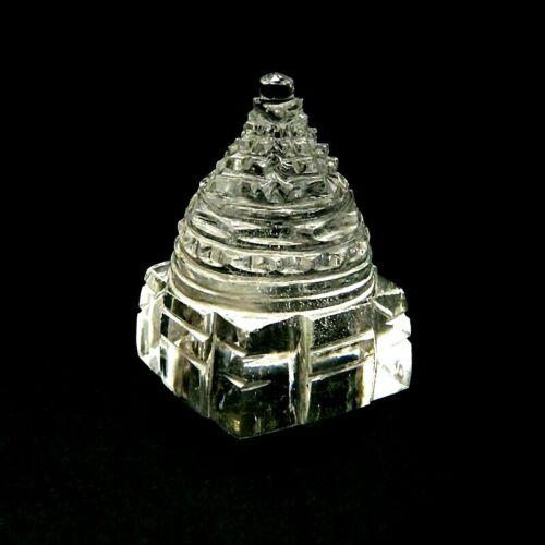 Sphatik Natural Crystal Sri Shri Shree Yantra To Remove Vastu Dosh Defect
