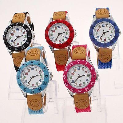 5 Colour Auswahl Kinder Mädchen Junge Kind Lernen Zeit Quarz Armbanduhr