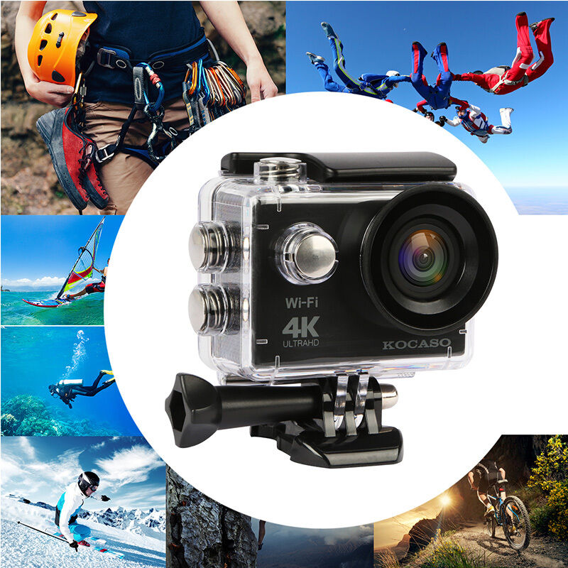 Купить KOCASO Action Camera - Ultra HD 4K WIFI Sports Action Camera Waterproof DV Camcorder