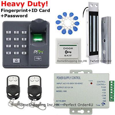 ZKTeco Fingerprint+RFID Card+Password Access Control System+ Door Magnetic Lock