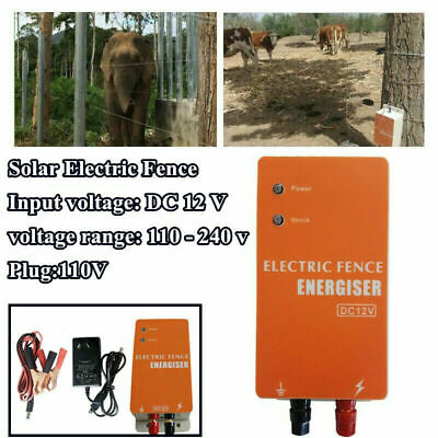 Solar Electric Fence Energizer Charger For Animals Poultry Fencing Controller