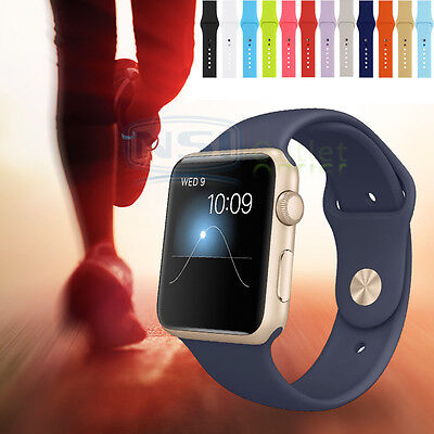 Silicone Sport Wrist Band Bracelet Strap For Apple Watch Series 1 2 3 38Mm 42Mm