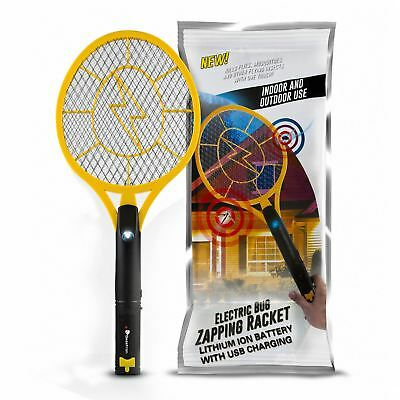 Beastron Rechargeable Handheld Electronic Insect Mosquito Fly Bugs Zapper Racket ()