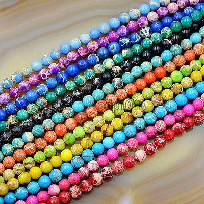 Jasper Round Beads (Natural Sea Sediment Jasper Gemstone Round Beads 16'' 4mm 6mm 8mm 10mm)