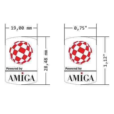 Commodore Amiga Clear Sticker Bouncing Ball 19x28mm [303c]