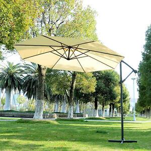 10' Patio Umbrella Outdoor Market Parasol Sunshade beige