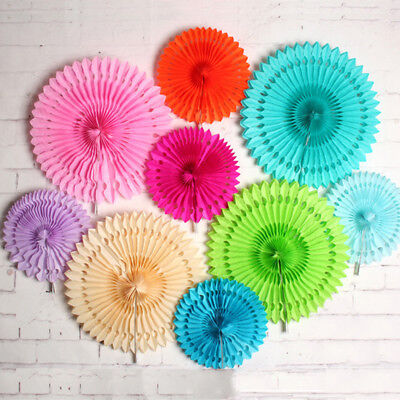Paper Craft Party Decor Hanging Paper Flower Cut-out Fans Pinwheels - Paper Pinwheel