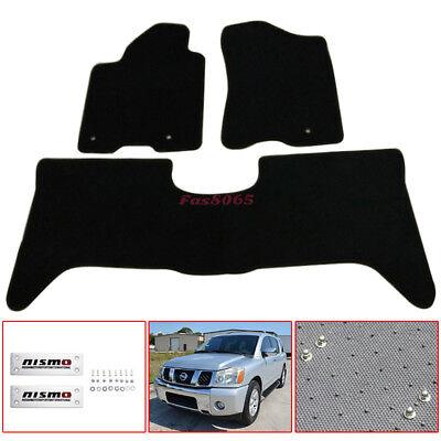 DIY!!! For 2005-2010 Nissan Armada Titan Floor Mats Nylon Black w/Nismo Emblem 2008 Nissan Armada Replacement
