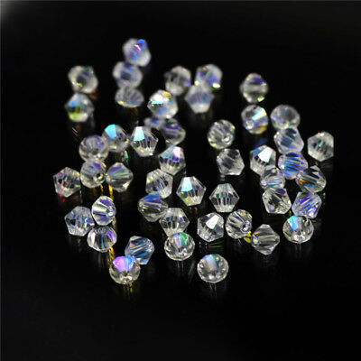3mm Diamond Glass Crystal Finding Charm Loose Spacer Beads Jewelry Making #HY1