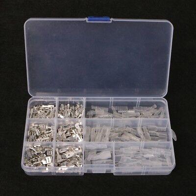 270pcs Female Male Spade Connectors Wire Crimp Terminals Set 2.8mm 6.3mm 4.8mm