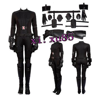 High Quality Captain America 3 Black Widow Cosplay Costume Natasha Custom Size