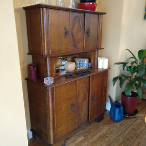 Spalted Maple Dining Hutch