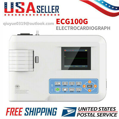 Electrocardiograph Digital Single Channel 12-lead Ecgekg Machine Printer Us Fda