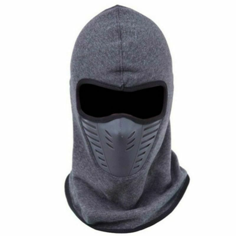 Balaclava Thick Warm Beanies Men Women Winter Hats Sleeve Ca
