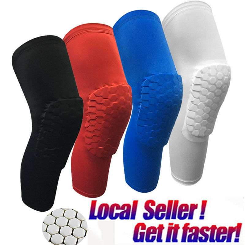 Men Youth Pad Honeycomb Leg Support Knee Sleeve Braces Sport