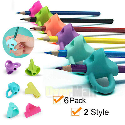 Pencil Grips Holder Silicone Ergonomic Pen Grippers Writing Aid For Kids - Ergonomic Pencil Grip