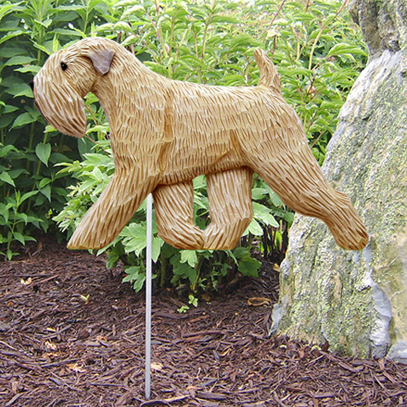 Soft Coated Wheaten Outdoor Garden Dog Sign Hand Painted Figure
