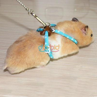 Adjustable Pet Rat Mouse Harness Rope Ferret Hamster Finder Bell Leash Lead USA