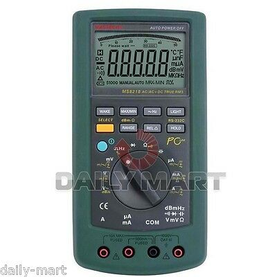 Mastech Ms8218 Auto-range Digital Multimeter 50000 Counts 5 12 Bit Dmm