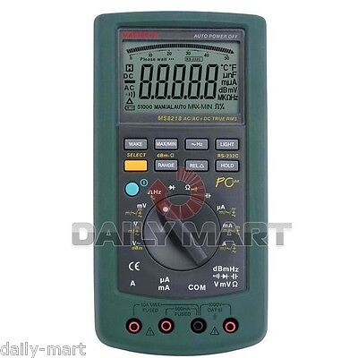 Mastech Ms8218 Auto-range Digital Multimeter 50000 Counts 5 12 Bit Dmm