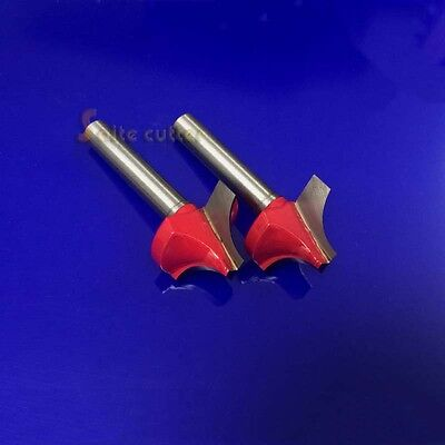 2pc Carbide Cnc Wood Working Carving Hole Opening Router Bit End Mill 6mm 22mm