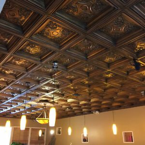 Drop in Ceiling Tiles - Faux tin