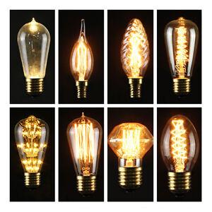 edison lampadina : LAMPADINA-LED-EDISON-VINTAGE-E27-E14S-3-5-40W-LUCE-CALDA-ATTACCO-BULB ...