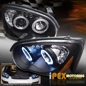 BLACK-DEVIL-EYE-2004-2005-Subaru-Impreza-WRX-STi-LED-HALO-Projector-Headlights