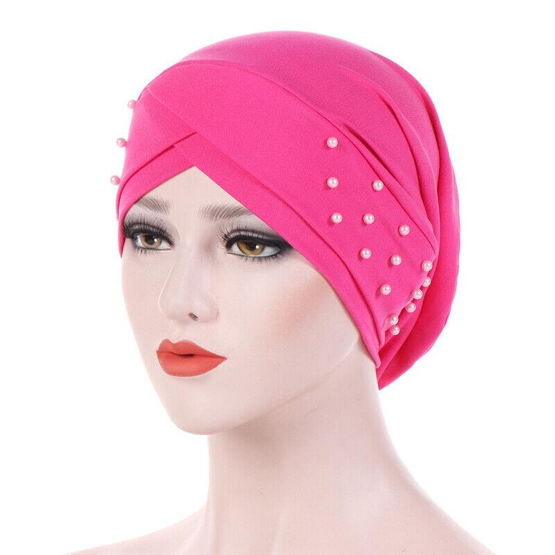 Women Ladies Turban Hat Muslim Cancer Chemo Cap Hijab Headscarf Wrap Headwear Clothing, Shoes & Accessories