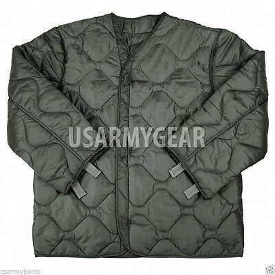 Green Jacket - US Army Military M65 Field Jacket Quilted OD Green Coat Liner M-65  S M L XL XXL