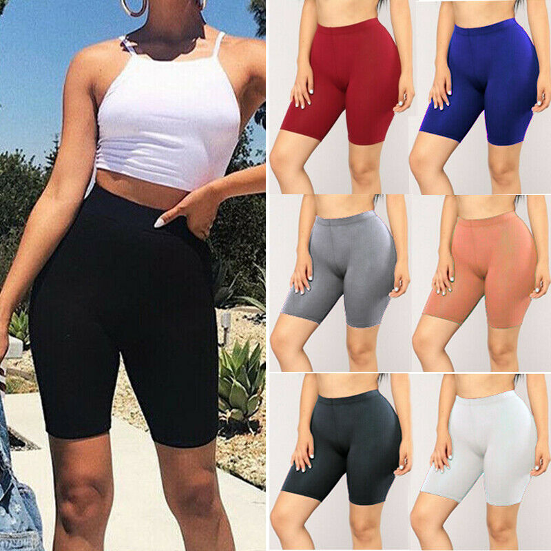 Women Cycling Yoga Shorts Gym Biker Hot Pants Cotton Legging