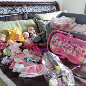 Little girl growing up!! DOLLS AND BARBIE HOUSE