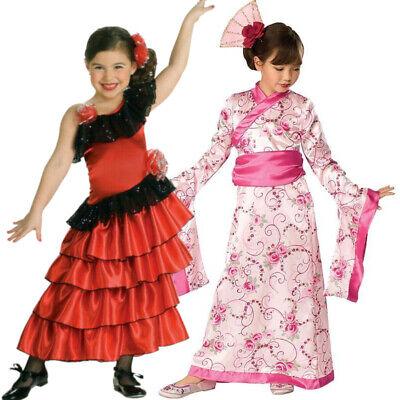 Asiatische Spanische Prinzessin Fasching Mädchen Kostüm Verkleidung - Spanische Mädchen Kostüm