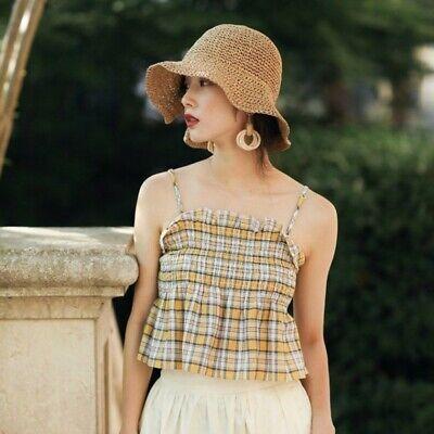 Girls Floppy Sun Hat (8 Colors Summer Beach Sun Hats for Women Girls Straw Hat Wide Brim Floppy)