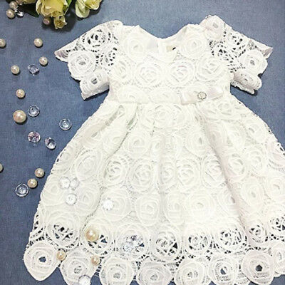 Princess Wedding Party Prom Birthday Dress Lace Tutu Dresses For Baby Girl 0-24M (Girl Dresses For Party)