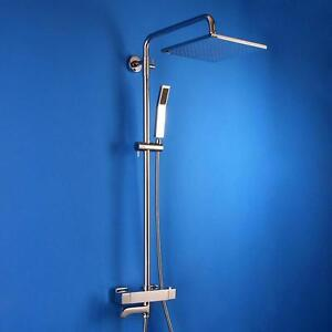 Thermostatic 10 Inches Square Head Exposed Shower System