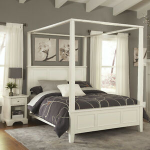 Lafferty Canopy 2 Piece Queen Size Bedroom Set with Mattress